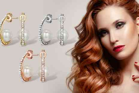Neverland Sales - Amira Earrings with Crystals Include Free Delivery - Save 69%