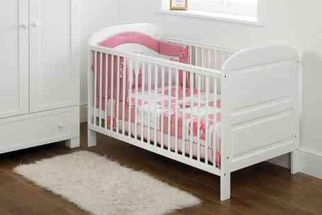 Groupon Goods Global GmbH - East Coast Nursery Angelina Cot Bed White With Free Delivery - Save 22%