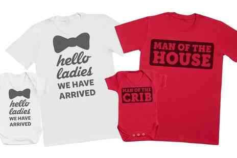 Groupon Goods Global GmbH - Spoilt Rotten Matching Mens T Shirt and Babys Bodysuit Set - Save 39%