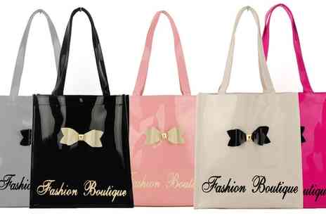 Groupon Goods Global GmbH - Bowknot Patent Large Tote Bag - Save 0%