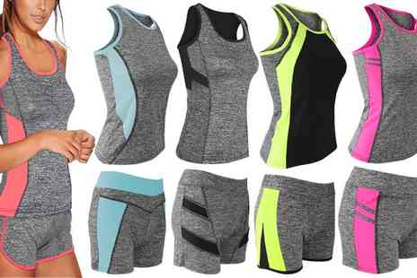 Groupon Goods Global GmbH - Womens Casual Shorts and Vest Set - Save 0%