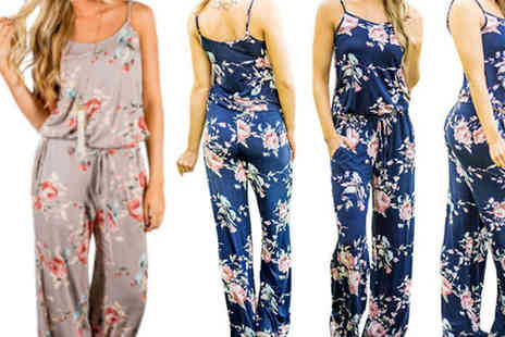 Bazaar me - Sleeveless Floral Jumpsuit in 2 Colours - Save 86%