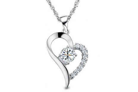 YEPKO - Crystal Heart Necklace Made With Swarovski Elements - Save 78%