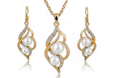Richardson Group - Simulated Pearl Indian Style Jewellery Sets in 4 Colours - Save 82%