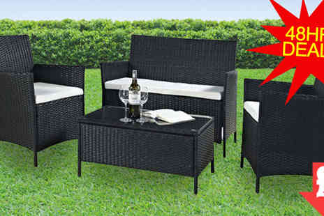 EVRE - Madrid Black Rattan Furniture Set - Save 89%