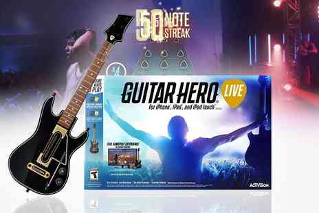 Brandsaver - Guitar Hero Live IOS game including guitar controller - Save 72%