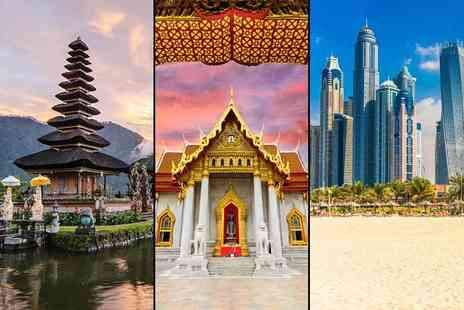 Tour Center - Six night Bali stay with breakfast, a two night Bangkok stay and a two night Dubai stay, including all flights - Save 30%