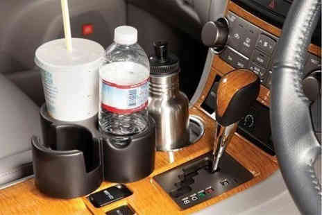 Ckent - Cup holder with three, versatile storage spaces - Save 67%