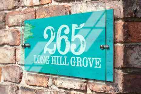 Fabness - Choice of Personalised House Sign - Save 75%