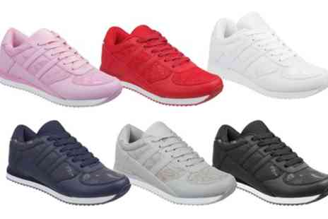 Groupon Goods Global GmbH - Womens Memory Foam Trainers in a Variety of Colours - Save 0%
