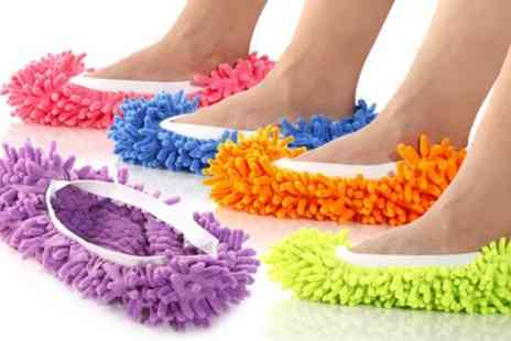 Groupon Goods Global GmbH - Floor Polishing and Cleaning Mop Slippers - Save 70%