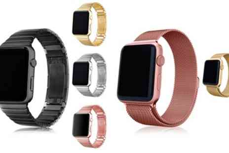 Groupon Goods Global GmbH - Strainless Steel Straps for Apple Watch - Save 70%