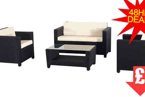 EVRE - Black Roma Rattan Set - Save 79%