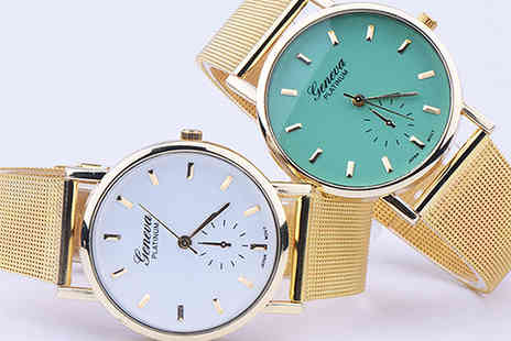 Jewleo - Summer quartz colour wrist watch - Save 83%