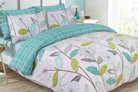 Rashids - Single, double, king or super king size Allium duvet cover set select from two colours - Save 70%