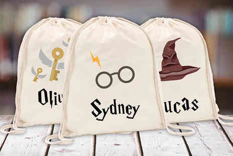 Shop Sharks - Harry Potter inspired kids personalised drawstring bag - Save 71%