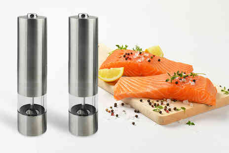 ViVo Technologies - Set of electronic salt and pepper mills - Save 63%