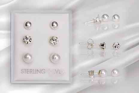 EST1897 - Set of three silver tone studs - Save 40%