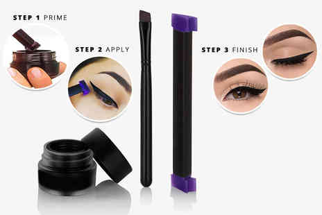 Beauty Bae - Three piece Stamp It Liquid Eyeliner brush and stamp set - Save 77%