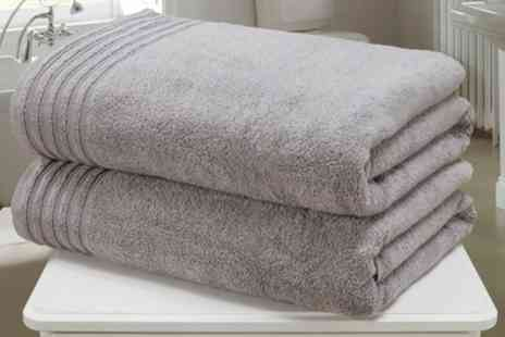 Groupon Goods Global GmbH - Two or Four Rapport Home So Soft Zero Twist Bath Sheets - Save 83%