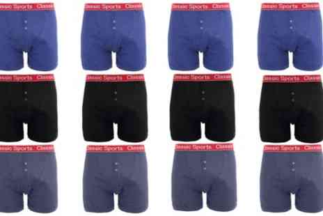 Groupon Goods Global GmbH - Mens Classic Boxers 12 Pack - Save 0%