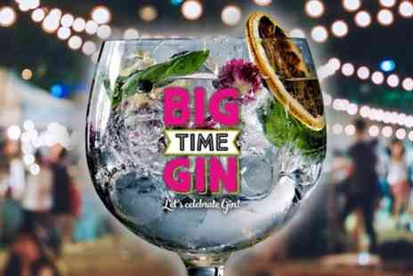 Big Time Gin Festivals - Big Time Gin Festival on 30 September - Save 50%