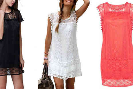 Bonicaro Design - Pom Pom Lace Summer Dress in 3 Colours - Save 80%