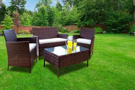 Giomani Designs - Four piece rattan garden furniture set, with a limited number available - Save 84%