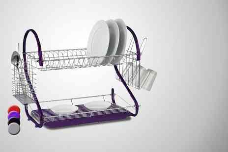 Direct 2 Publik - Two tiered dish drainer - Save 80%