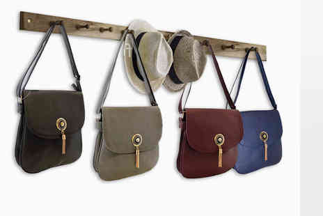 Pearl Info - Cross body bag with gold tassel choose from four stylish colours - Save 79%