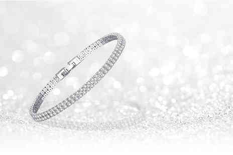 Your Ideal Gift - Twin row created sapphire bracelet - Save 77%