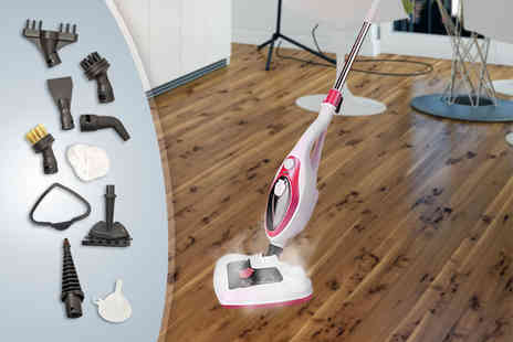 Groundlevel - 14 in 1 steam mop - Save 81%