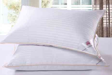 Groupon Goods Global GmbH - Two or Four Goose Feather and Down Pillows - Save 82%