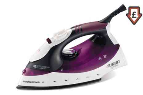 Groupon Goods Global GmbH - Morphy Richards 2000W Turbo Steam Iron - Save 65%