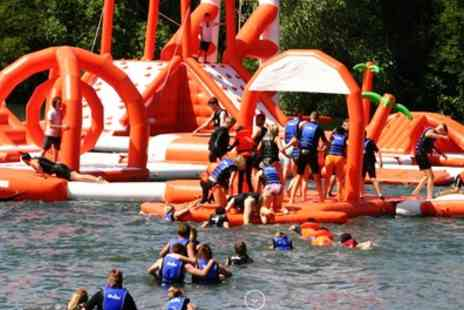 Lagoona Aqua Park - 50 Minute Aqua Park Session with Wet Suit Hire for Up to Four - Save 25%