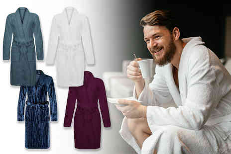 Shop Monk - Soft fleece dressing gown - Save 56%