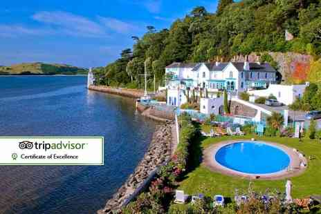 Portmeirion Village - Entry to Portmeirion Village for two with a spa day at The Mermaid Spa, two treatments and a glass of Prosecco each - Save 72%