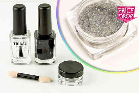 Forever Cosmetics - Magic mirror three step holographic nail polish kit - Save 80%