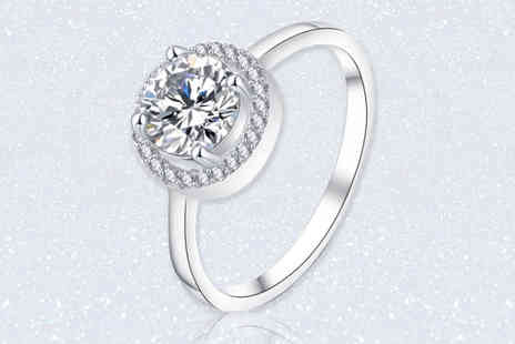 Fakurma - Micropave round cut halo ring - Save 88%