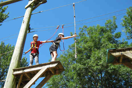 Aerial Extreme - Childs or adult high ropes adventure experience - Save 46%