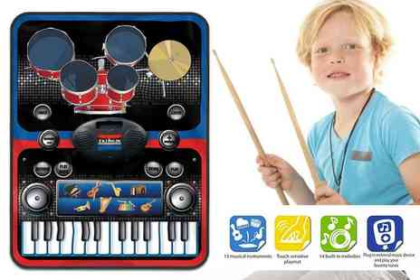 ViVo Technologies - 2 in 1 piano and drums music jam play mat - Save 80%