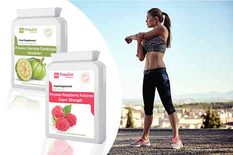 Prowise Healthcare - One month supply of Garcinia Cambogia Absolute plus and Raspberry Ketones Super Strength capsules - Save 71%