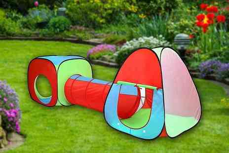 Inside Out Toys - Kids pop up play tent with tunnel - Save 60%
