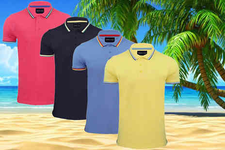 Marsel Holdings - Mens 100% cotton polo shirt choose from 4 colours in sizes S to XL - Save 63%