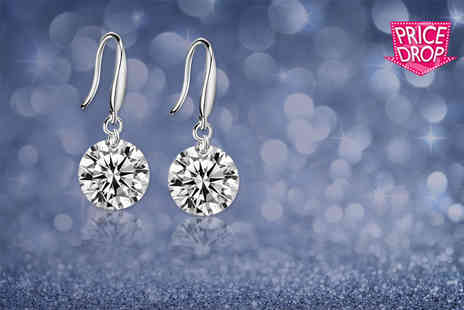 Your Ideal Gift - Pair of silver plated drop earrings - Save 88%