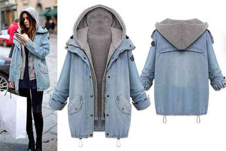 Jewleo - Two in one womens urban style denim jacket set - Save 67%