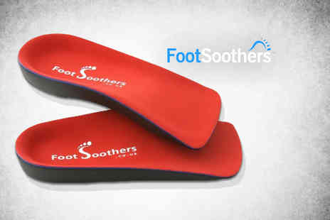 Podiatry Wellbeing - Pair of orthotic insoles with arch support - Save 85%