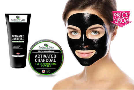 Carbone & Coco - Blackhead face mask and charcoal teeth whitening powder - Save 86%