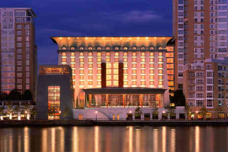 Canary Riverside Plaza Hotel - Five Star Hotel Stay For Two With Thames Views - Save 69%