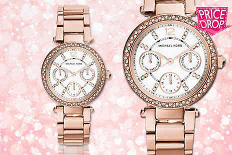 GK1706 - Rose gold plated Michael Kors Mini Parker MK5616 watch - Save 52%